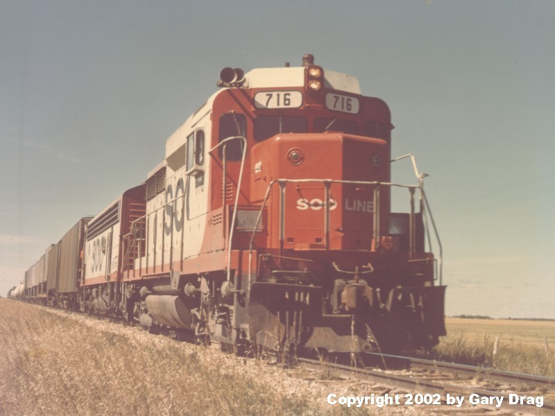 Soo Line GP30 716 on 8/23/1974